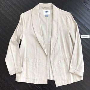 Old Navy Khaki Tan Lightweight Linen Blazer